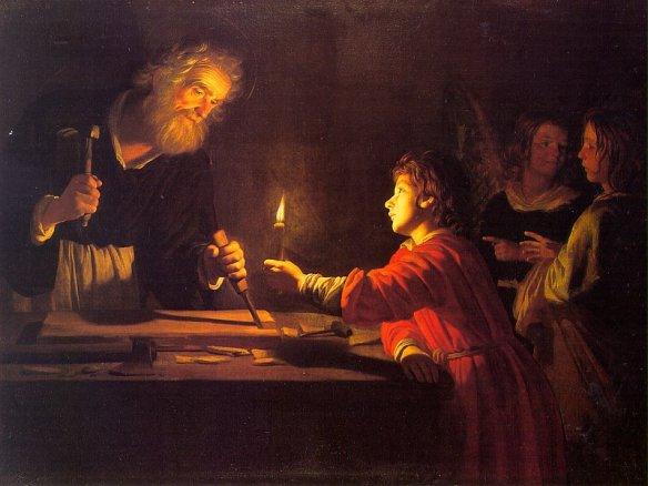 Lucem accipe ut reddas (Receba a luz para que possa passá-la adiante). Pintura de Honthorst