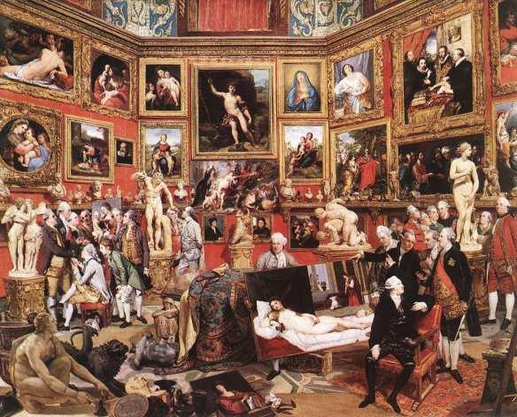 Tribuna do Uffizi de Johann.