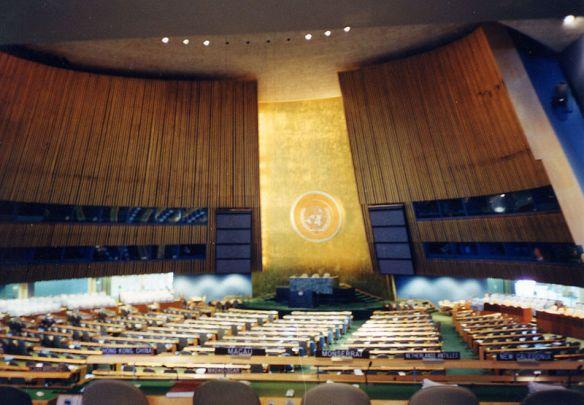 Assembléia Geral da ONU em Nova York.