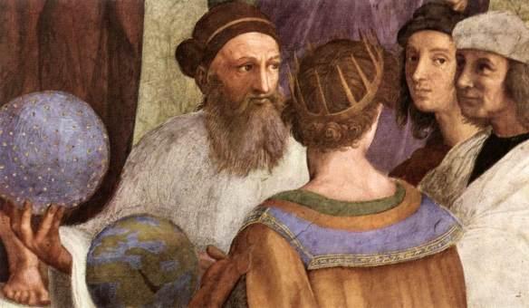 """Detalhe de """"A Escola de Atenas"""" de Rafael Sanzio"""